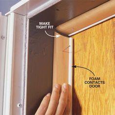 Install weatherstripping and Door Sweeps  Front glass door and an door sweep for utility room door.