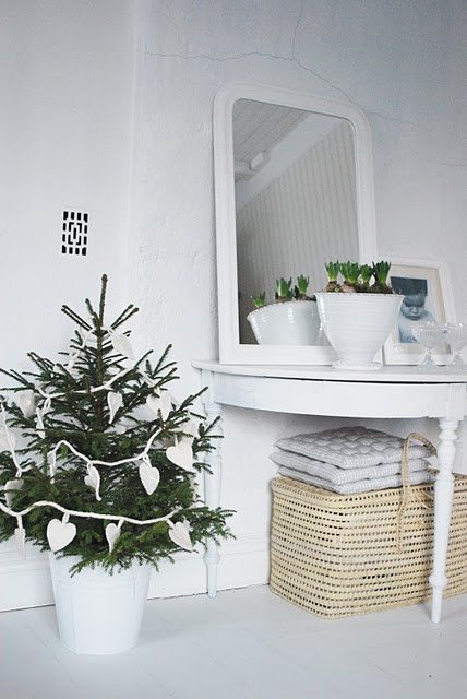 Scandinavian Christmas in white