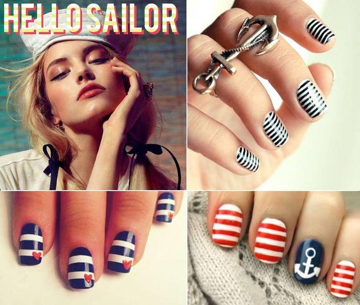 Cute nautical nail ideas