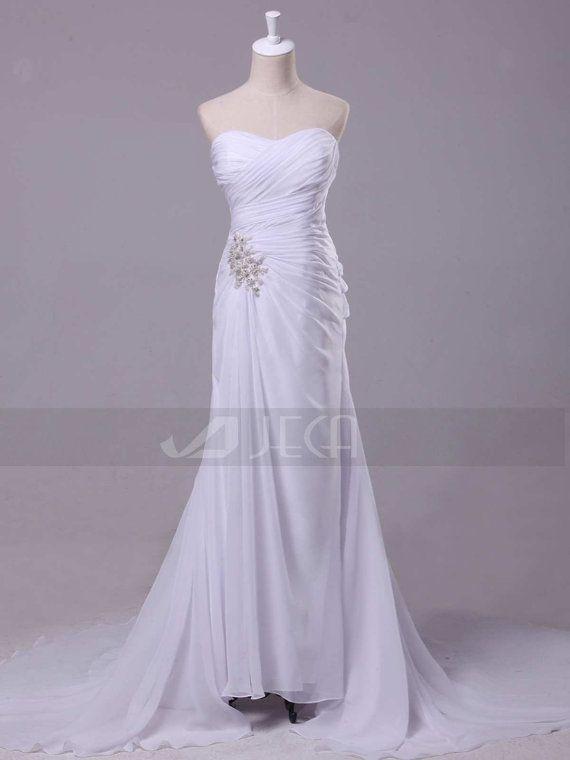 Chiffon Casual Wedding Dress by Jecadress on Etsy, $209.95 - nice for a summer wedding