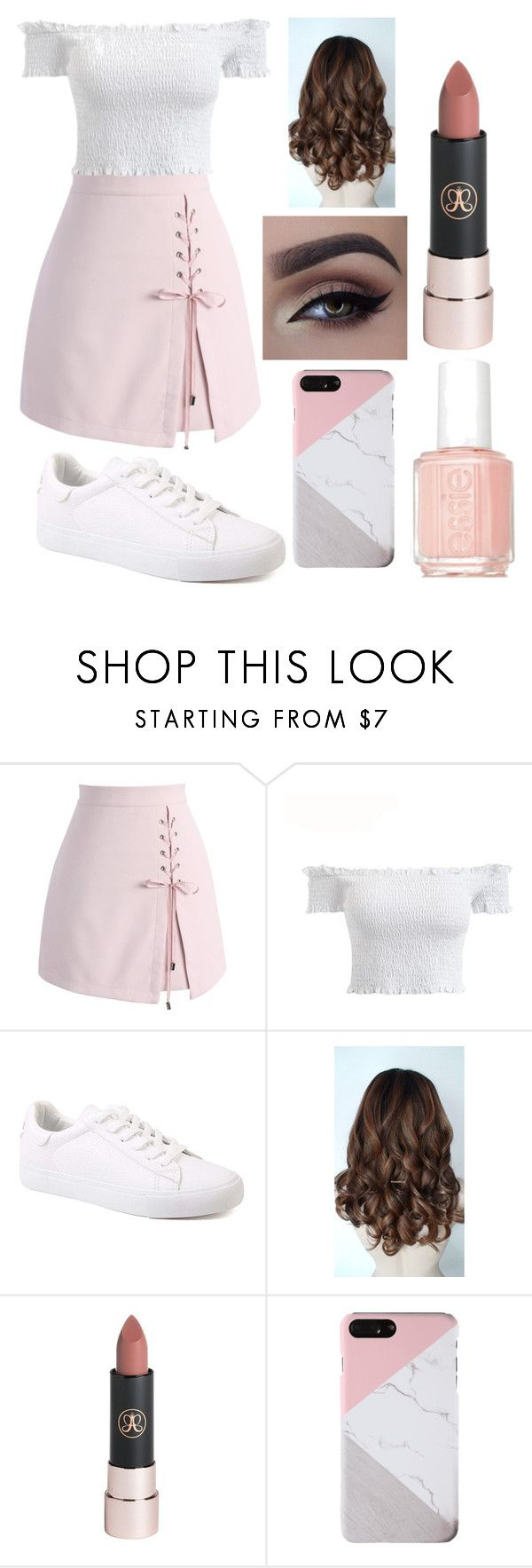"""Untitled #77"" by magali03garcia on Polyvore featuring Chicwish, Anastasia Beverly Hills and Essie"