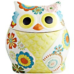 Owl cookie jar from Pier 1; Pinterest friends, my birthday's coming up...