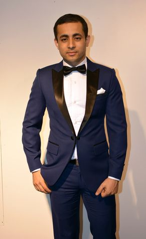 Real blue tuxedo is a bold choice! #smokki #miesten pukeutuminen #räätälistudio