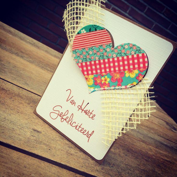 Congratulations #dutch #card #handmade #washi #silhouette
