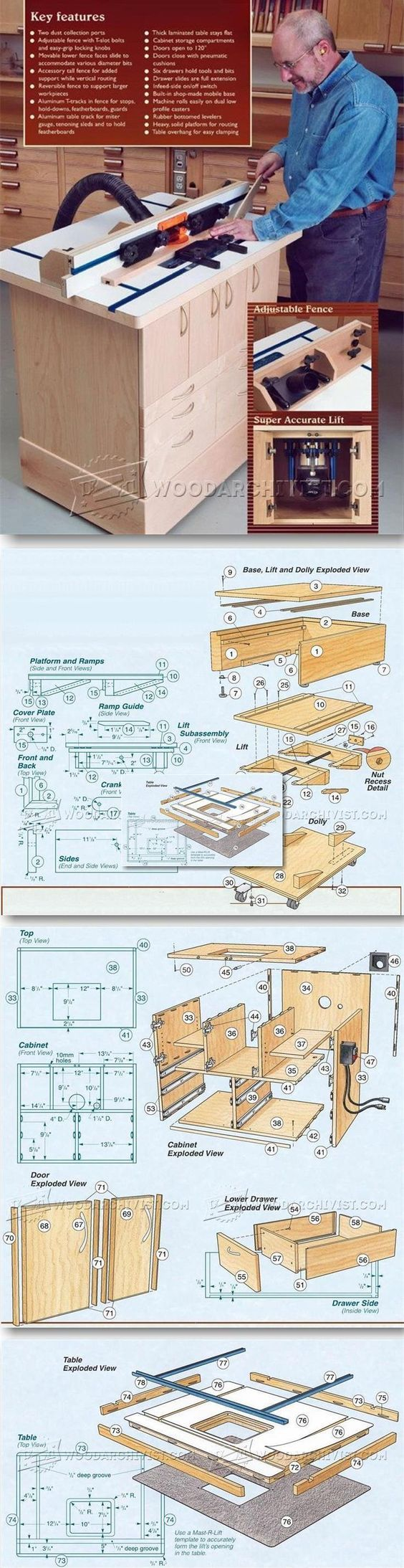 Homemade router table plans - Ultimate Router Table Plans Router Tips Jigs And Fixtures Woodarchivist Com