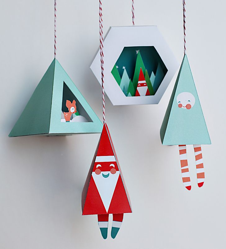 Sweet holiday ornament printables
