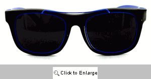 Gilly Metal Accent Wayfarers Sunglasses - 253 Blue