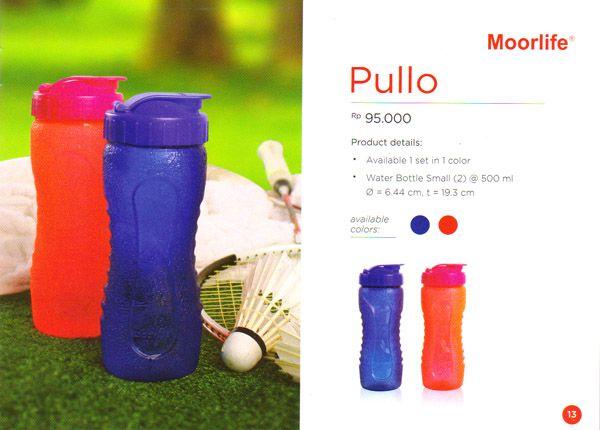 Moorlife Pullo Bottle Rp. 95.000,- 1 set terdiri dari 2 pcs dengan ukuran sama, 2 pilihan warna