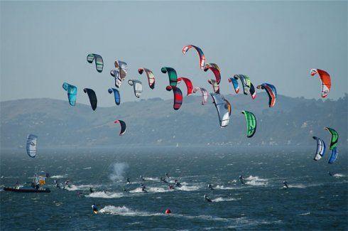 kite surfing race