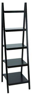 "66"" Tall Bookcase, Black"