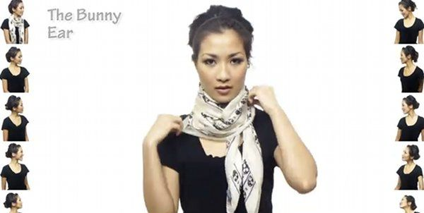 25 ways to wear a scarf