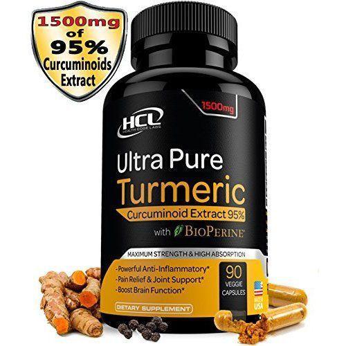 Amazon.com: Organic Turmeric Curcumin Capsules Best Pain Relief & Joint Support Black Pepper Organic Turmeric Supplement Pills with Curcuminoids & Ginger Powder Bundle 120 Anti-inflammatory Tablets: Health & Personal Care
