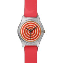 Colourful Watch with Colourful Circular Design