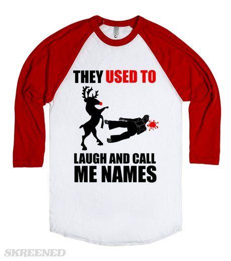 Angry Rudolph Funny Christmas Shirt #Skreened
