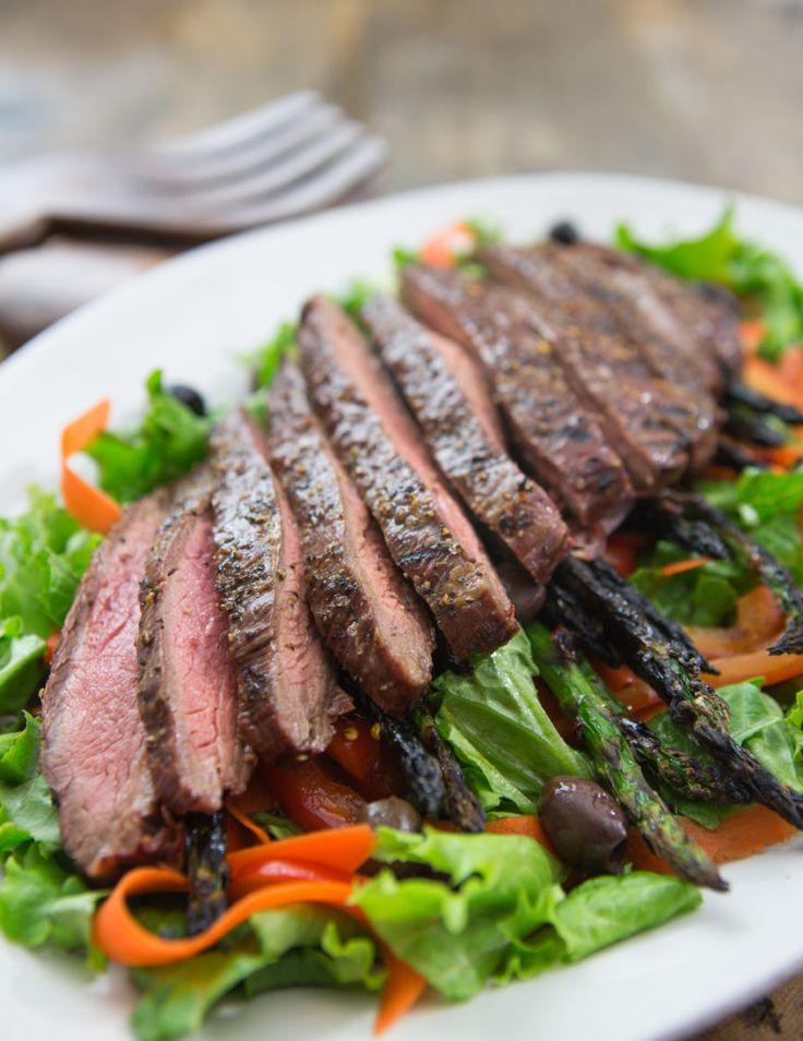 Sesame-Ginger Flank Steak Salad