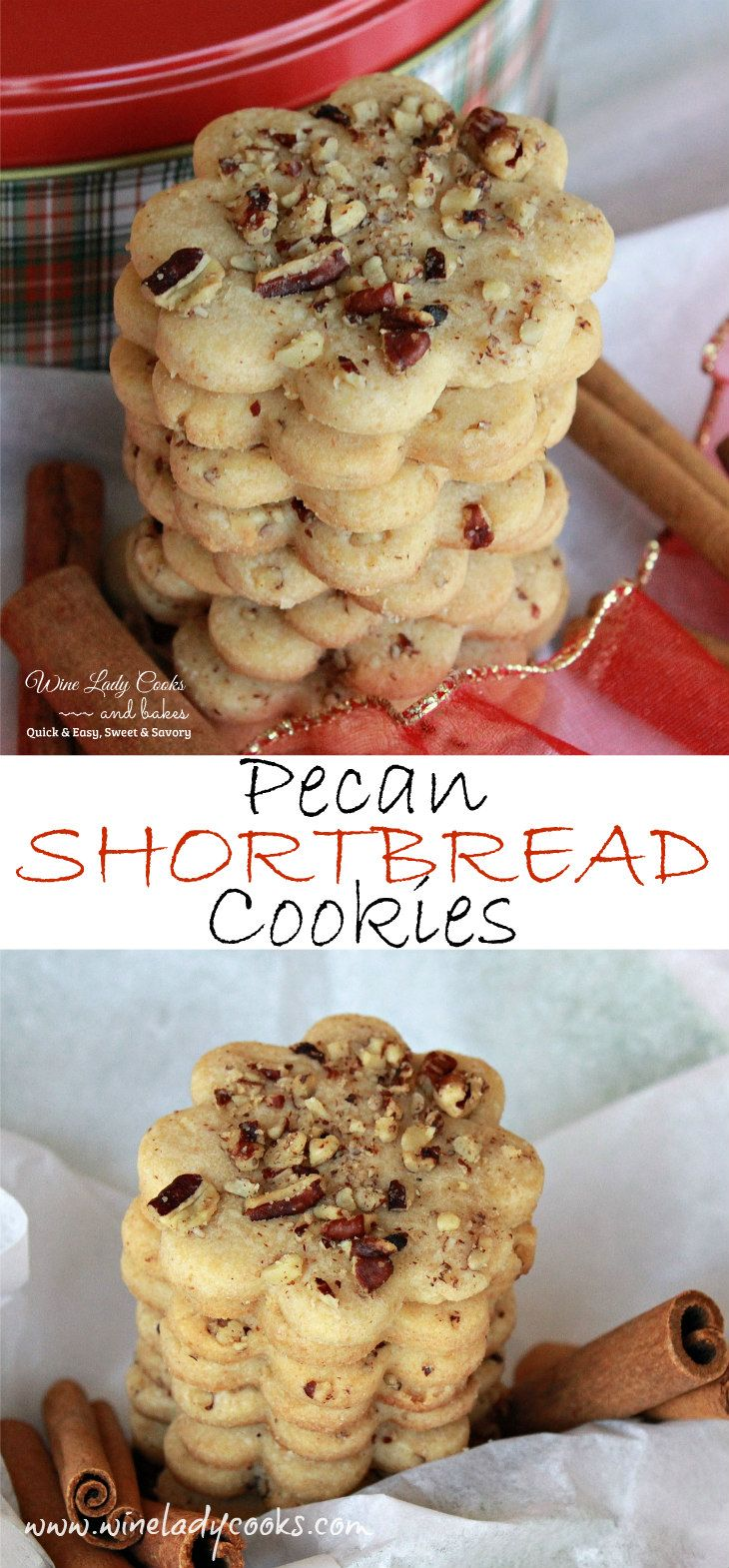 Pecan Shortbread Cookies, very easy to make for cookie exchanges and always a favorite holiday cookie