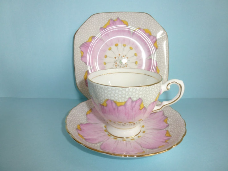Tuscan Bone China Cup Saucer Plate Trio Pink Flower. I have this but & 12 best Plant Tuscan China Engeland images on Pinterest | Plant ...