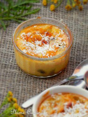 Clafoutis créole - Lait de coco, mangue, raisins
