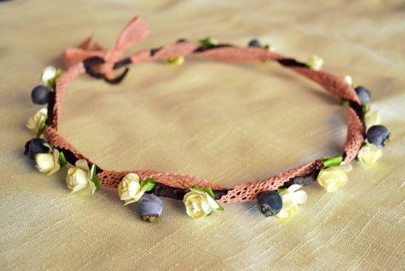 Floral Crown Woodland Crown Wedding Crown by MarianaHandmade, $40.00