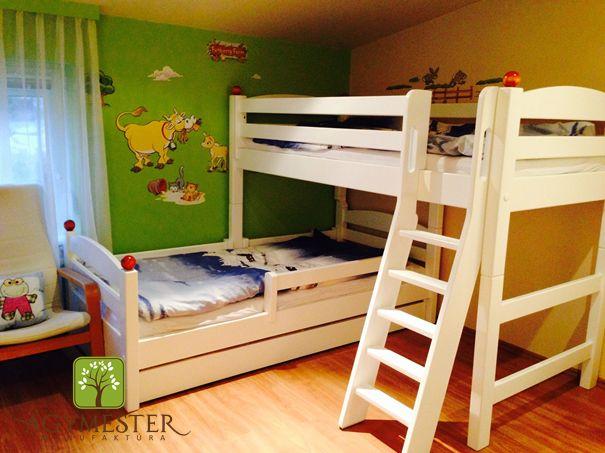 """""""Pontjó"""" emeletes ágy rendszer, tároló fiókkal, létrával és csinos gombócokkal"""