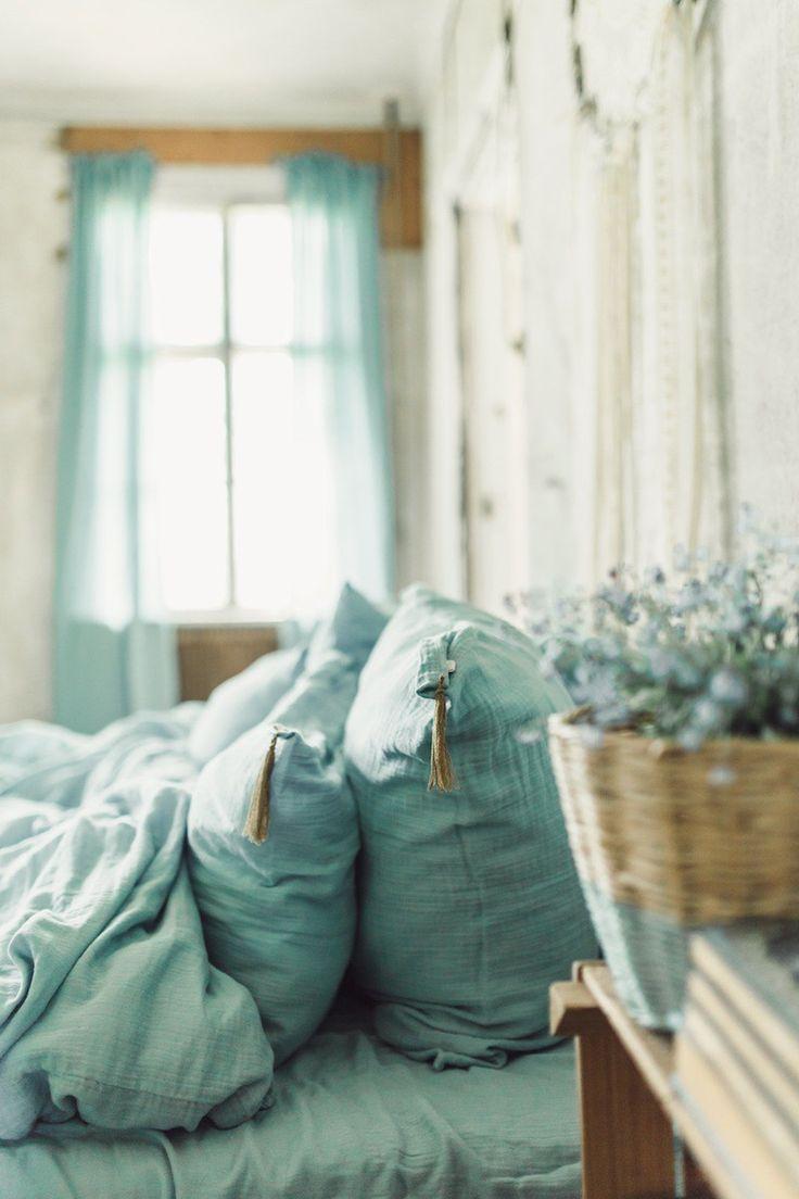 les 25 meilleures id es de la cat gorie linge de lit vert. Black Bedroom Furniture Sets. Home Design Ideas
