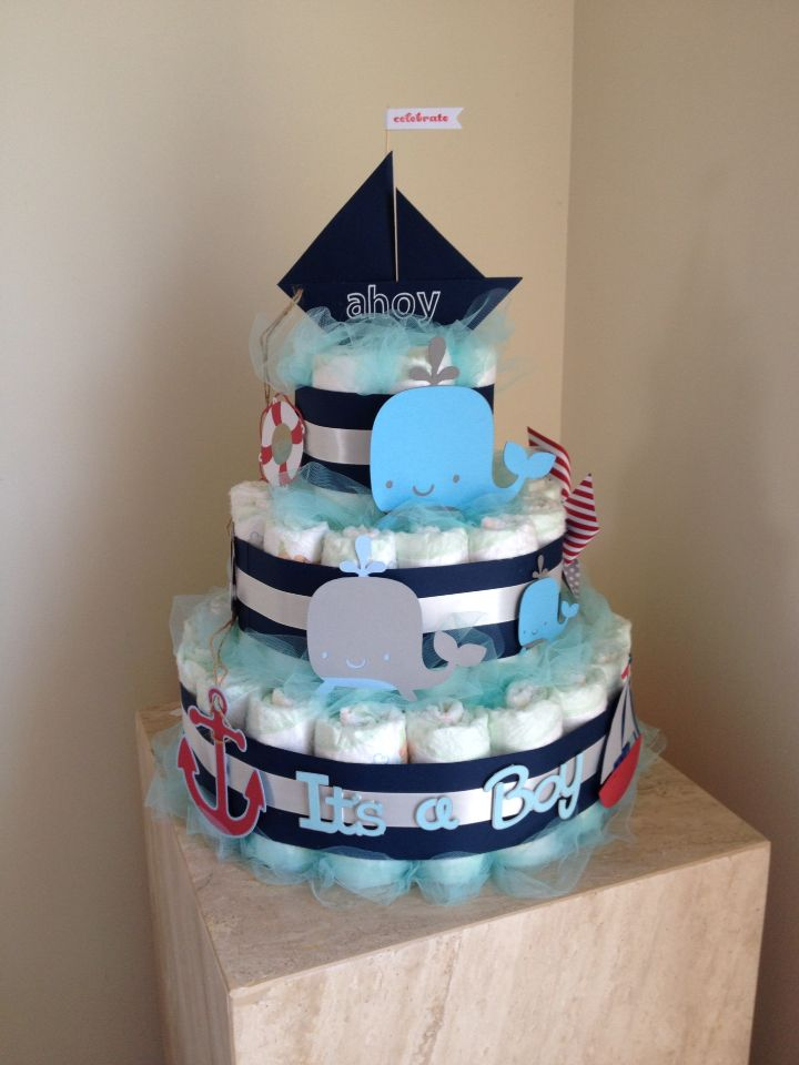 Decorating Ideas > Baby Boy Nautical Diaper Cake  Sues Crafts  Pinterest  ~ 194245_Birthday Party Ideas Galway
