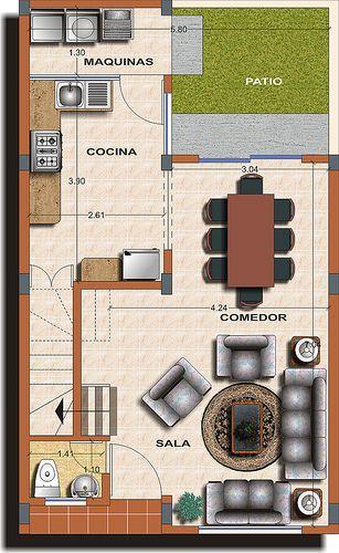 Casa Tipo A Planta 1 Architecture Planos De Casas