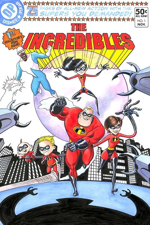 The Incredibles Pixar Comic Book Disney All The Time