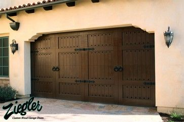 Spanish Style Garage Doors - eclectic - garage doors