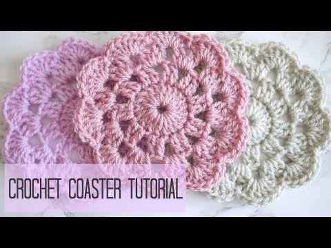 Como tejer posavasos o aplique a crochet (diestro) - YouTube
