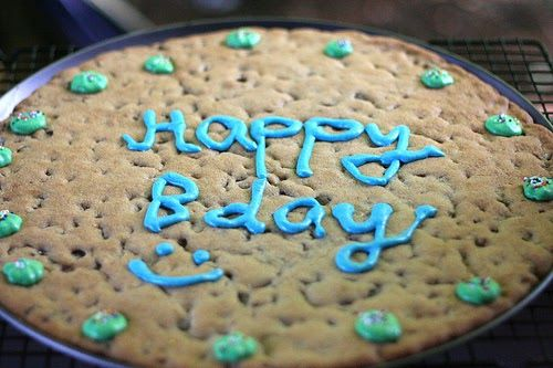 Another one of Andy's requests for his many birthday celebrations was a chocolate chip cookie cake! We both grew up loving these, and I've a...