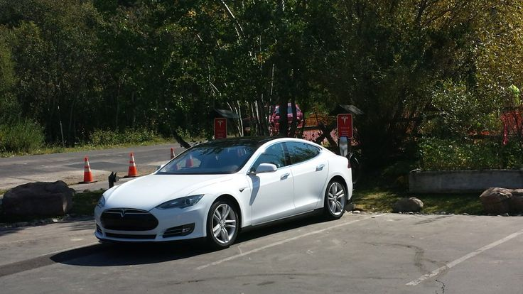 Tesla Charging Station at Oliver Luxury Real Estate in Tahoe City