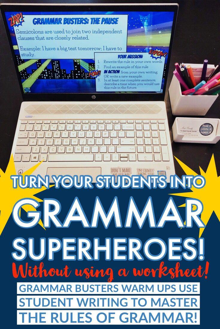 Grammar Busters Comma Rules For Grades 6 10 By Read It Write It Learn It Teachers Pay Teachers Comma Rules Grammar Teaching Middle School