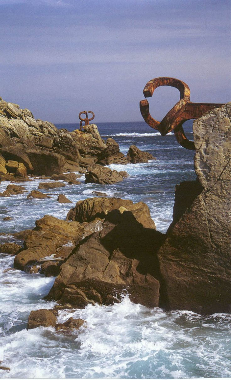 Art from Spain - Eduardo Chillida Juantegui, ( San Sebastián 10 January 1924 – 19 August 2002) was a Spanish sculptor notable for his monumental abstract works.Peine de los vientosDonostia (San Sebastian)