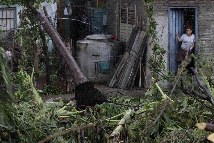 after the passing of Hurricane Sandy in Santiago de Cuba,