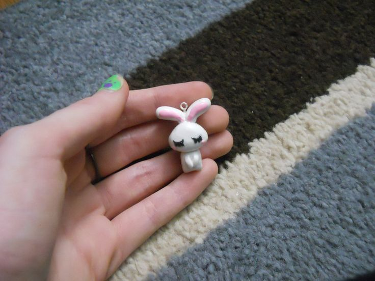 Love Bunny Polymer Clay Charm by ~ResurrectedVampire69 on deviantART