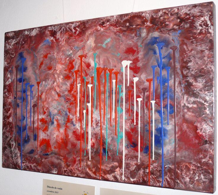 Dana Haidau - Beyond venom, encaustic painting, 75x50cm