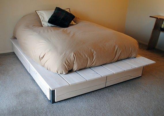17 best ideas about pallet bed frames on pinterest diy pallet bed diy bed frame and bed frame. Black Bedroom Furniture Sets. Home Design Ideas
