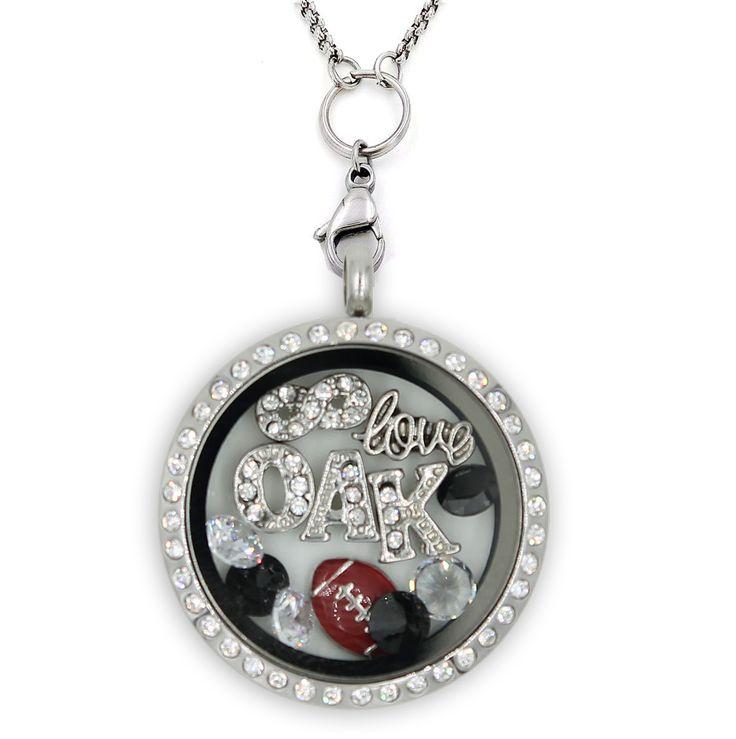 Infinity Love Oakland Football Charm Necklace
