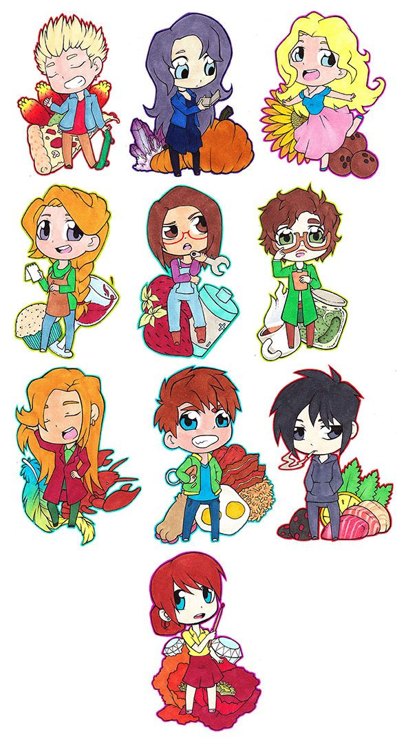 """psychoseby: """" Some Stardew Valley Chibis that I will be making into stickers for Denver Comic Con and Phoenix Comic Con! """""""