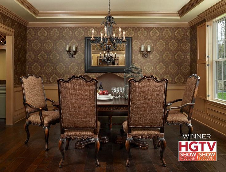 This Dining Room Was Voted The Winning Design By HGTV Viewers For A Nationally Televised Reality