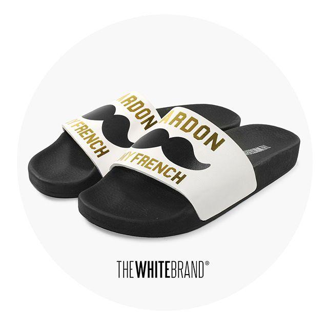PARDON MY FRENCH - Ponte el mostacho, se solidario y no pidas disculpas, tus pool sandals lo harán por ti. Súmate al movimiento Movember, la campaña solidaria que se convirtió en tendencia.