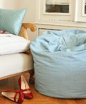 Bean bag. I love the idea of this made out of a linen blend fabric.