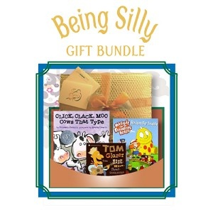 "Being Silly - Gift Bundle - Age 3 and up - Includes ""Click, Clack, Moo Cows that Type"" (book), ""Maggie and the Ferocious Beast: Recipes for Trouble"" (DVD) and ""Honk-Hiss-Tweet-GGGGGG...and other Children's Favorites"" (CD). $44.95: Gifts Ideas, Gifts Bundle"