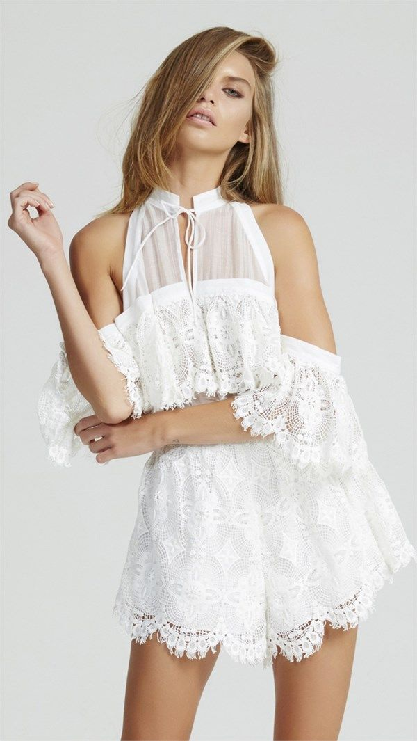 Better Be Good To Me Playsuit - White by Alice McCALL