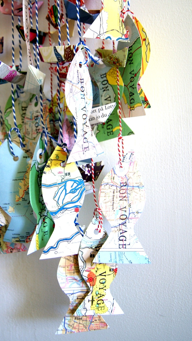 bon voyage; cute idea for invites & decorations at kids 'under the sea' party