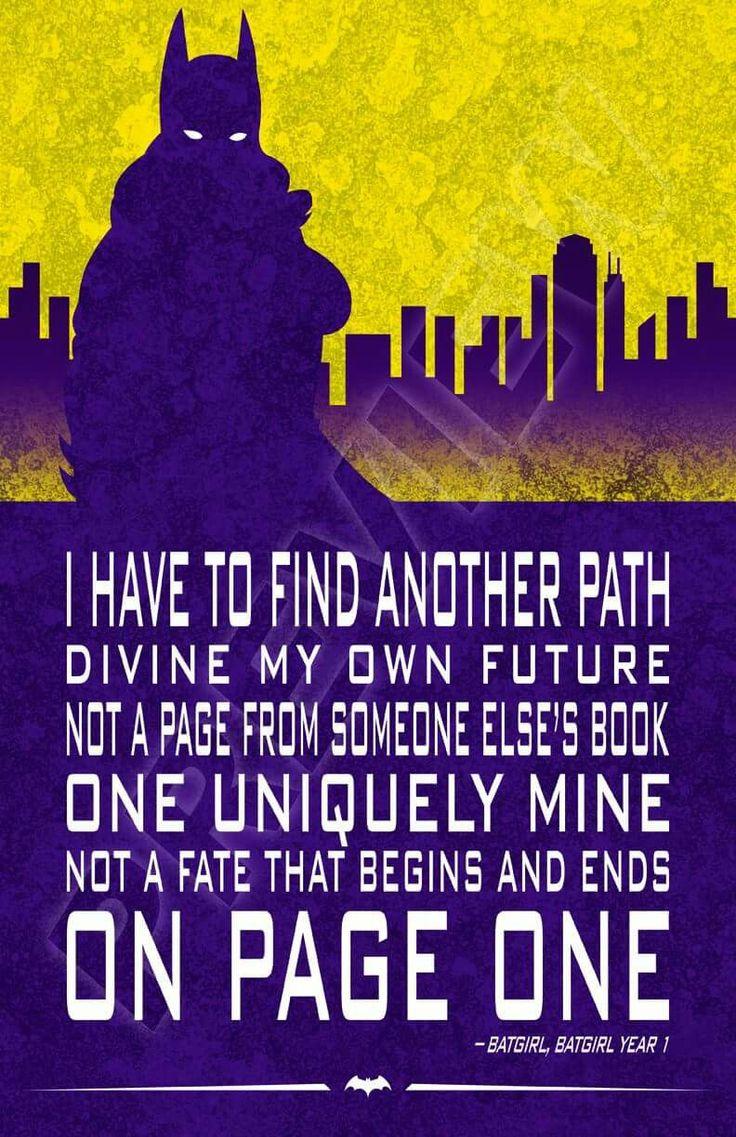 Batgirl quote. Barbara Gordon. Justice League, Birds of Prey, Young Justice, DC Comics