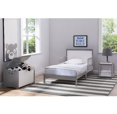 Cheap Bedroom Set Toddler 3 Piece Panel Style Gray Finish Kids Furniture Group