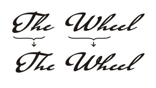 "Demonstrates using ligature ""Wh"" and ""Th"" in handwriting font Taumfel"