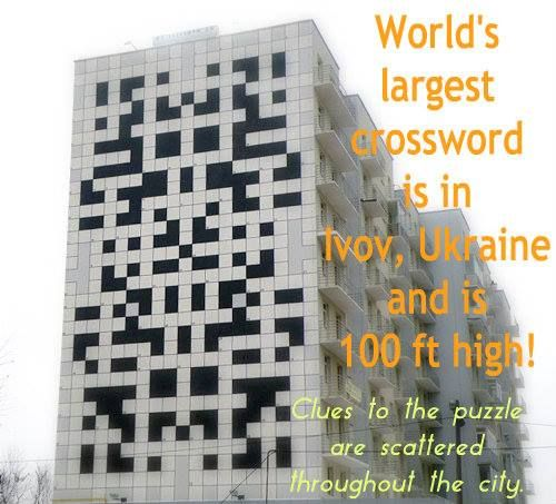 World's largest crossword puzzle is 100 feet high!